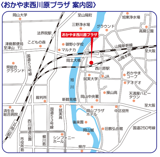 岡山の地図