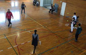 スポーツ専攻のテニス体験
