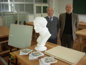 美術の木村博省先生と書道の宮阪修先生