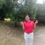 令和2年度岡山県高等学校ゴルフ選手権秋季大会にて3年山下海音さんが4位の成績を収めました